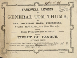 Advert for General Tom Thumb